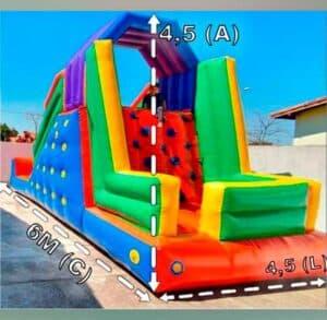 Locação de Tobogã Inflável para Festa Infantil 6 por 4,5 Metros