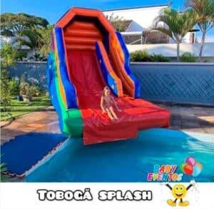 Aluguel de Tobogã Inflável Splash para Festa Infantil